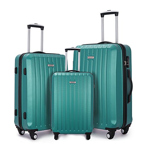 Fochier Luggage 3 Piece Spinner Luggage Set Lightweight (Lightweight Womens Luggage Set)