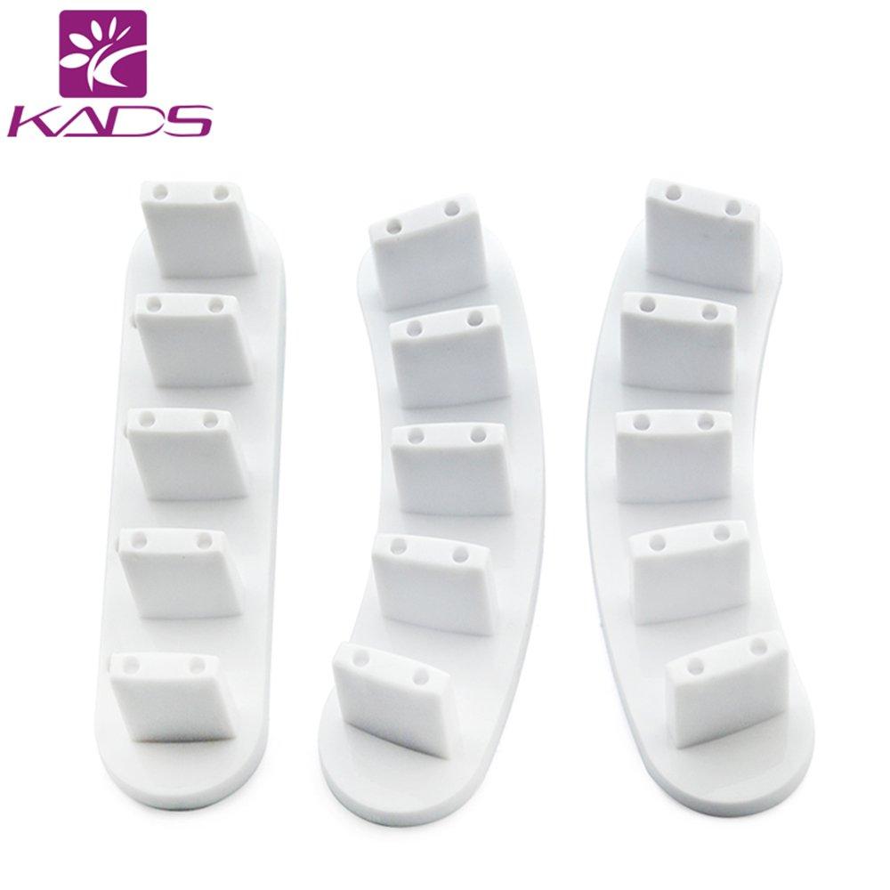 KADS 3pcs/set High Qulity PlasticTip Stand for Practice Use Practice Training Nail Art False Tips Display Training Tool (100 False Nail Tips) KADS Co. Ltd