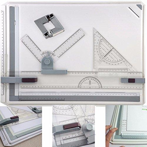 GOCHANGE Profil A3 Zeichenplatte Zeichenbrett Zeichentisch mit Parallele Bewegung und Verstellbarer Winkel für Professionell Arbeiten