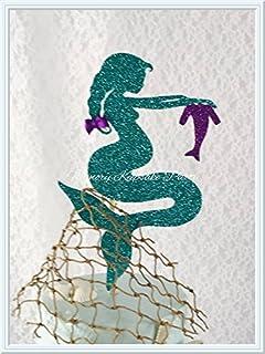 Pregnant Mermaid Cake Topper