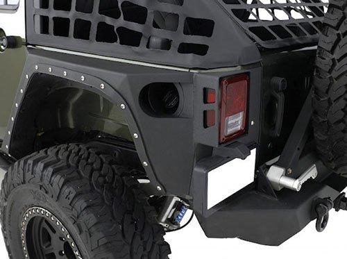 Smittybilt 76882 Jeep Wrangler XRC Armor Rear Corner Guards - JK - Corner Guards ()