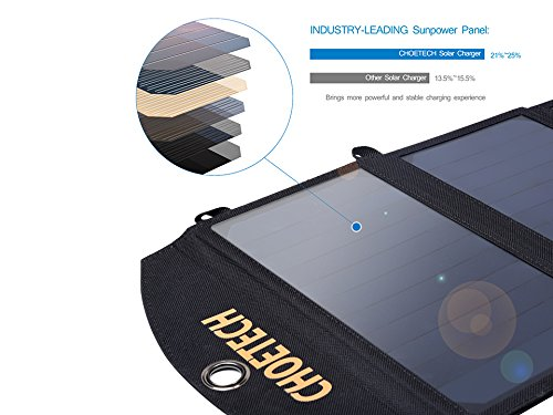 Solar-Charger-CHOE-19W-2-Port-Solar-Phone-Charger-with-Dual-USB-Port-and-Auto-Detect-Tech-for-Galaxy-S7S7-Edge-iPad-Pro-iPhone-77-Plus6S66-Plus-Nexus-5X6P-and-More