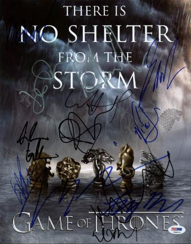 Game of Thrones cast reprint signed poster photo #2 13 cast members RP