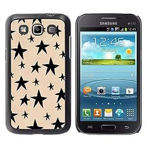 Paccase / SLIM PC / Aliminium Casa Carcasa Funda Case Cover para - Vortex Abstract Lines Black - Samsung Galaxy Win I8550 I8552 Grand Quattro
