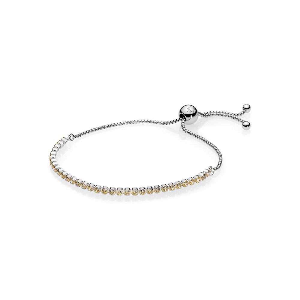Pandora Golden Sparkling Strand Silver Bracelet 590524CCZ1 by PANDORA
