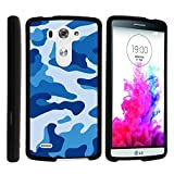 LG G3 Case, Slim Fit Snap On Cover with Unique, Customized Design for LG G3 (D850, D851, D855, VS985, LS990, US990) by MINITURTLE - Blue Camouflage