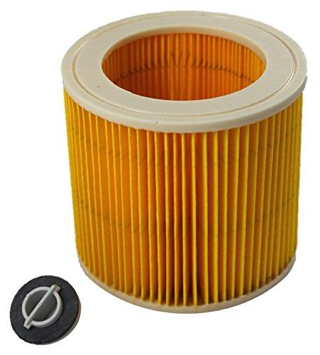 Omixberg © Cartuccia filtro di ricambio per Kärcher WD 2, WD 3, WD 3200, WD 3300 M, WD 3500 P Kärcher MV3, SE 4001. SE 4002, adatto per 6.414-522.0 Kärcher 6.414-772.0, Kärcher 6.414-547.0 Hepa WD 3500 P Kärcher MV3