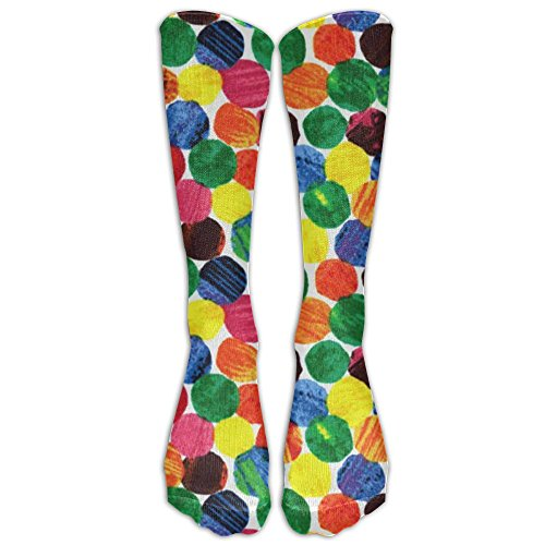 NEW The Very Hungry Caterpillar Abstract Dots Compression Socks Women's Men's Classics Knee High Socks Sport Long Sock One (Easy Hungry Caterpillar Costume)