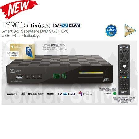 Tivusat HD decoder and smart card certified Italian