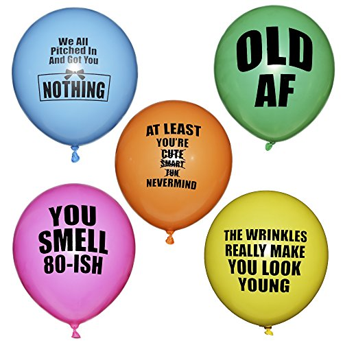 ROFLmart Rudeloons Offensive Abusive Anti Happy Birthday Latex Party Balloons 20 Piece Assorted Colors