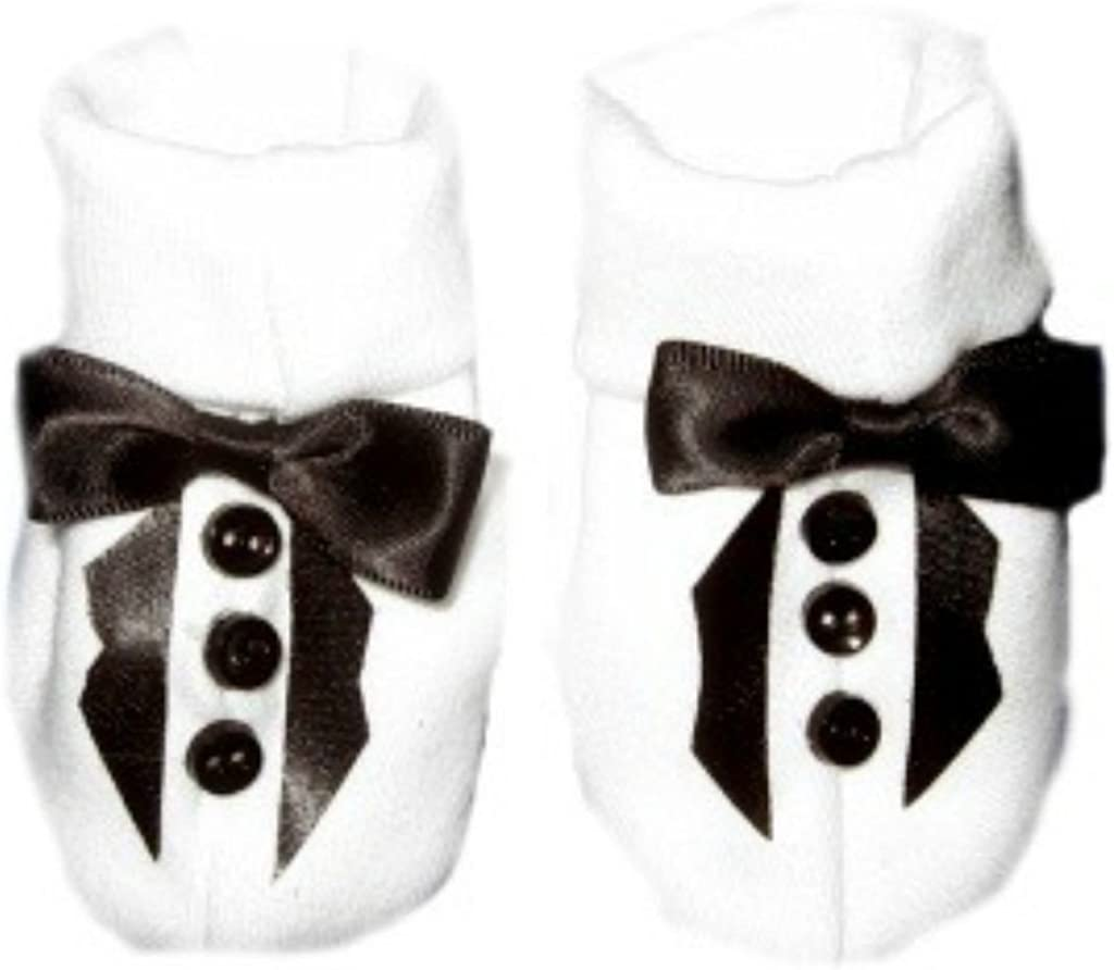 5 Preemie and Newborn Sizes White and Blue Booties Unisex Baby USA Red