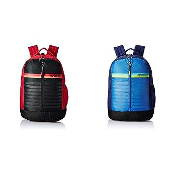e5b542fce35 American Tourister 28 Ltrs Red Casual Backpack + 28 Ltrs Blue Casual  Backpack (AMT PING BACKPACK 01 - RED + AMT PING BACKPACK 01 - BLUE)   Amazon.in  Bags, ...