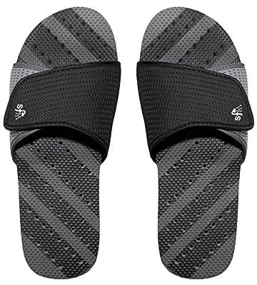 Showaflops Men's Antimicrobial Shower & Water Sandals - Adjustable Slide