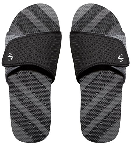 Showaflops Boy's Antimicrobial Shower & Water Sandals - Grey