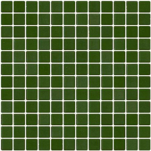Susan Jablon Mosaics - 1 Inch Dark Sage - Recycled Tile