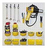 Pegboard Kit, Assorted Peg Hooks & Part Bins - Garage Tool Storage EB640