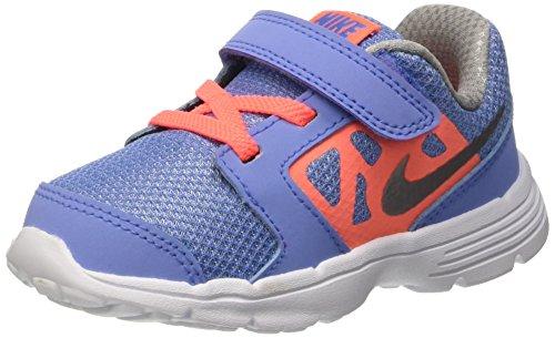 Nike Downshifter 6 (TD), Zapatos de Recién Nacido para Bebés Azul (Chlk Blue / Mtllc Slvr Brght Mng)