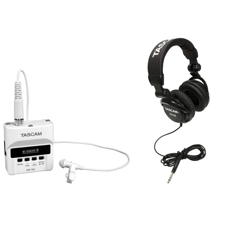 Tascam Digital Audio Recorder with Mic + Foldable Home & Studio Headphones