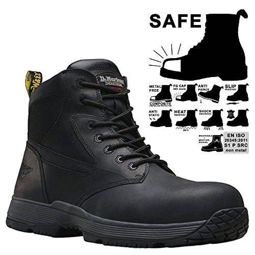 Dr. Martens Corvid Mens S1P Composite Toe/Midsole Safety Boots Black qD2pRRI
