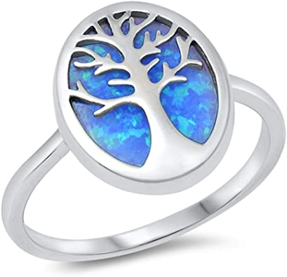 CloseoutWarehouse Sterling Silver Tree Of Life Ring