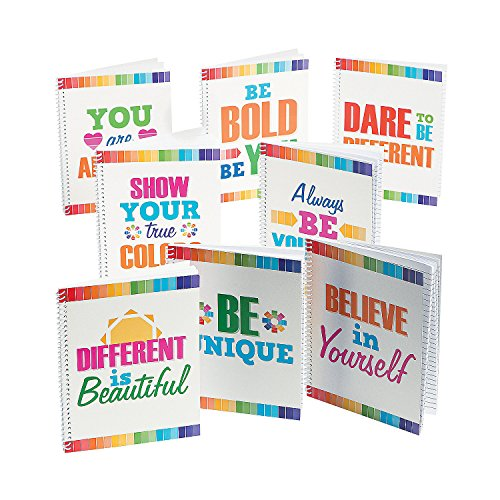 Fun Express Paint Chip Notebook Journals   8 Count   Great for Classroom Supplies, Back to School Gifts, School - Journal Back