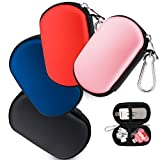 Wolven Universial Portable Waterproof Shockproof Electronic Accessories Organizer Holder/USB Flash Drive Case Bag - Pink