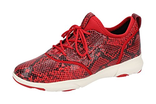 Mode Geox Femme d829da Baskets pour Scarlet Red Rouge qwfxvwSR