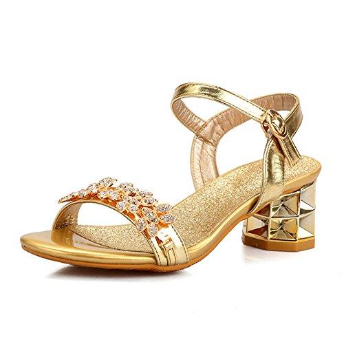 TMKOO& 2017 nuevas sandalias de las mujeres del diamante en verano con las sandalias de las mujeres de gran tamaño cómodo con los zapatos romanos ásperos con la palabra A