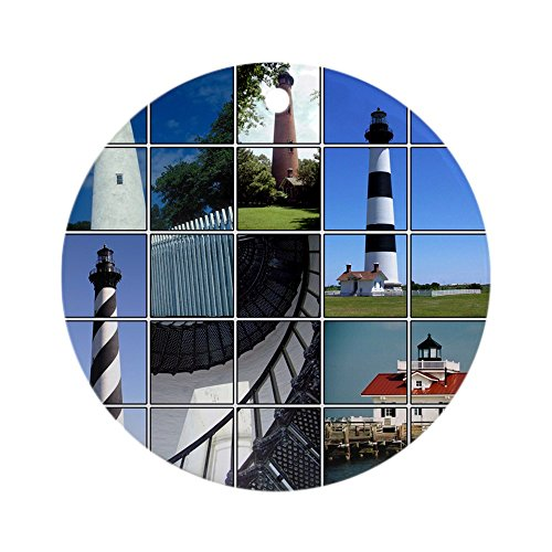 CafePress - Outer Banks Lighthouses Ornament (Round) - Round Holiday Christmas Ornament (Nc Lighthouse Banks Outer)