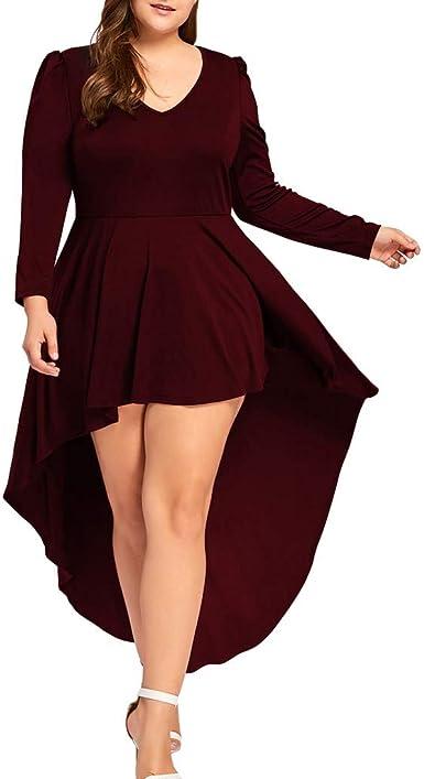Gran Tamaño Irregular Falda De Tubo Mujer Elegante Color Sólido ...