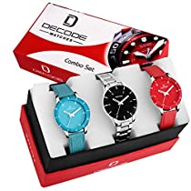 Decode Ladies combo of 3 Watch (WX605)