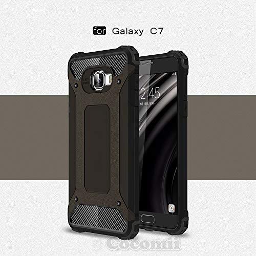 Commando Armor Galaxy C7/C7 Pro Case New [Heavy Duty] Premium Tactical Grip Dustproof Shockproof Bumper [Military Defender] Full Body Dual Layer Rugged Cover for Samsung Galaxy C7 (C.Black)