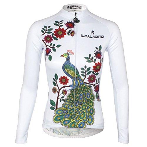 純粋なリマークたくさんUriahレディース自転車ジャージ長袖熱フリースタイツ