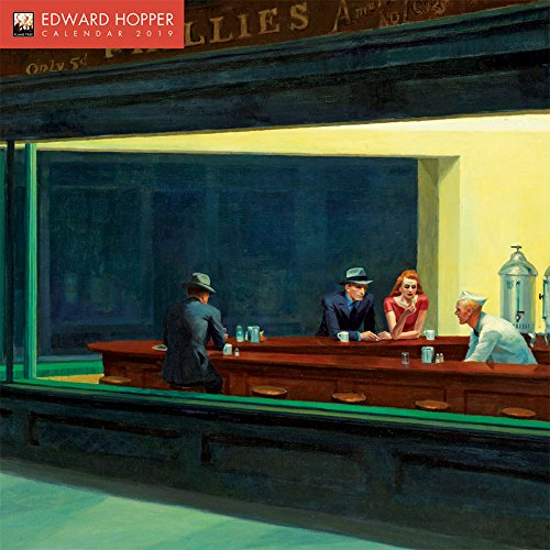 Edward Hopper 2019 12 x 12 Inch Monthly Square Wall Calendar by Flame Tree, American Realist Painter