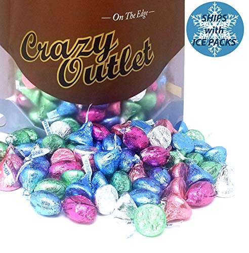 Easter Hershey's Eggs, Pastel Spring Colors Kisses Milk Chocolate - Mothers Day Candy Assortment, 2 lbs