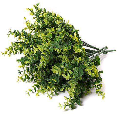 Faux Eucalyptus Pick - 6 Pieces Bundle - 11 Inches for Floral Arrangements, Wedding, Home Décor