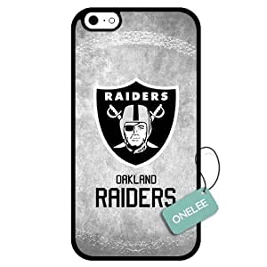 Onelee(TM) - Customized NFL Oakland Raiders Team Logo Design TPU Apple iPhone 6 Case Cover - Black 01