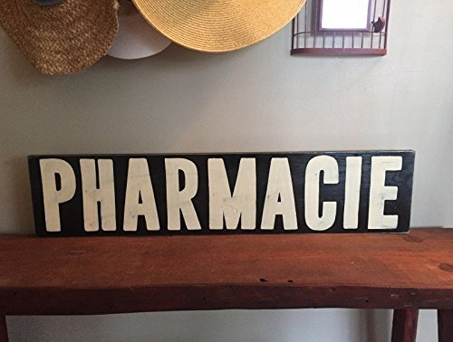 rmacy Bathroom Sign Plaque Wooden YOU Pick Color HP FREE SHIPPING (Pharmacy Picks)