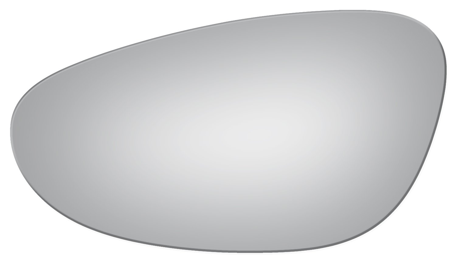 Burco 2826 Flat Driver Side Replacement Mirror Glass for Porsche 911, Boxster (1997, 1998, 1999, 2000, 2001, 2002, 2003, 2004, 2005)