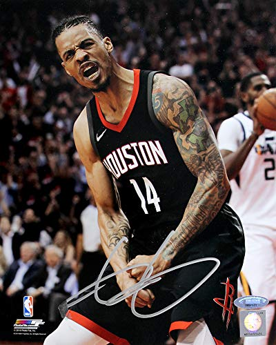 (Gerald Green Signed Autographed Houston Rockets 8x10 Photo TRISTAR)