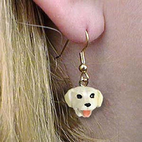 (Conversation Concepts Labrador Retriever Yellow Earrings Hanging)