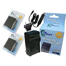 2x Pack - Canon BP-915 Battery + Charger with Car & EU Adapters - Replacement for Canon BP-970 Digital Camcorder Battery and Charger (7500mAh, 7.4V, Lithium-Ion)