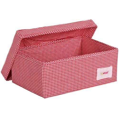 Minene 1516 Aufbewahrungsbox, klein, rot Karo