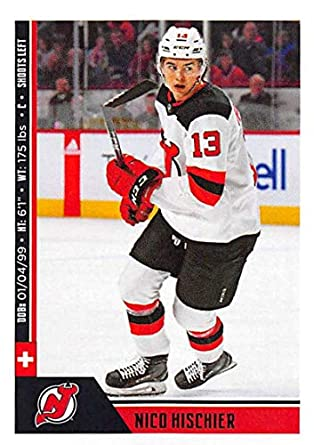 new concept b8797 382ab Amazon.com: 2018-19 Panini NHL Stickers #138 Nico Hischier ...