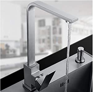Sanliv Single-Handle Prep Kitchen Faucet,Stainless Steel Deck Mount Bar Sink Faucet in Brushed Nickel