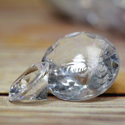 Quasimoon Clear Diamond Gemstones Acrylic Crystal Wedding Table Confetti Vase Filler (3/4 lb Bag) by PaperLanternStore