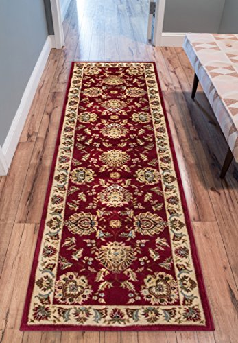 Sultan Sarouk Red Persian Floral Oriental Formal Traditional 2x7 (2'3