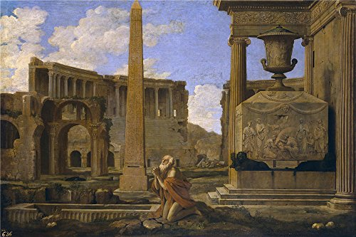 Oil painting 'Lemaire Jean Eremita orando entre ruinas clasicas 1637 38 ' printing on polyster Canvas , 30 x 45 inch / 76 x 114 cm ,the best Home Theater artwork and Home artwork and Gifts is this High Definition Art Decorative Prints on Canvas (Halloween Themed Math Printables)