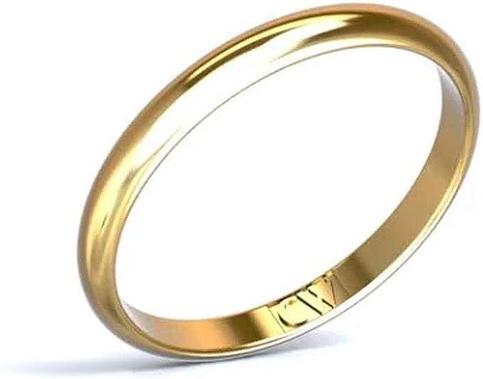 Alianza de boda oro amarillo 18 quilates Rhea para mujer y hombre Cristina Wish 2-1,2 mm. Alianzas pareja disponible en todos los tamaños. Fabricado en España: Amazon.es: Ropa y accesorios