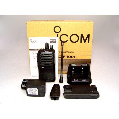 - Icom F4001 02 DTC 403-470mhz UHF 4 watt 16 channels portable radio